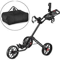 Caddytek Super Deluxe Quad Fold Golf Cart-black avec sac de rangement