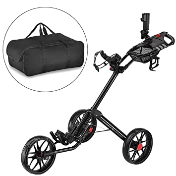 CaddyTek Super Deluxe Quad plegable - Carrito de golf con ...
