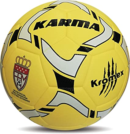 KROMEX Balón Fútbol Karma. Oficial R.F.F.M. (Amarillo, 5): Amazon ...