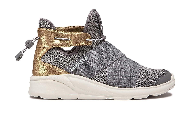 Supra Women's Anevay Shoes B075ZYNLB6 10 B(M) US|Dark Grey/Champagne/Bone