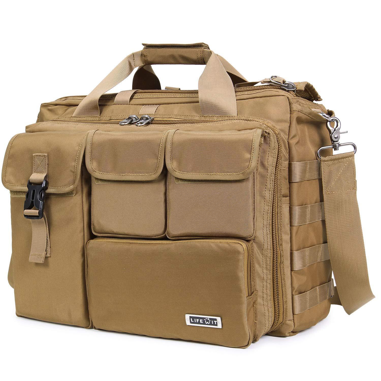 Lifewit 17.3' Men's Military Laptop Messenger Bag Multifunction Tactical Briefcase Computer Shoulder Handbags