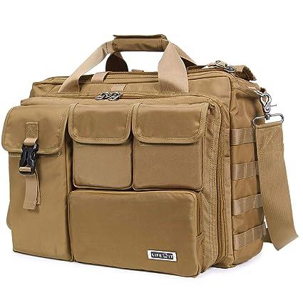 ecd3fc538f Image Unavailable. Image not available for. Color  Lifewit 17 quot  Men s  Military Laptop Messenger Bag ...