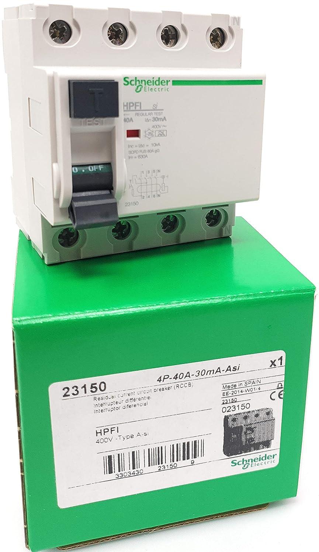 300mA AC Residual Currrrent Circuit Breaker 23121 RCCB Schneider Electric 4P 25A