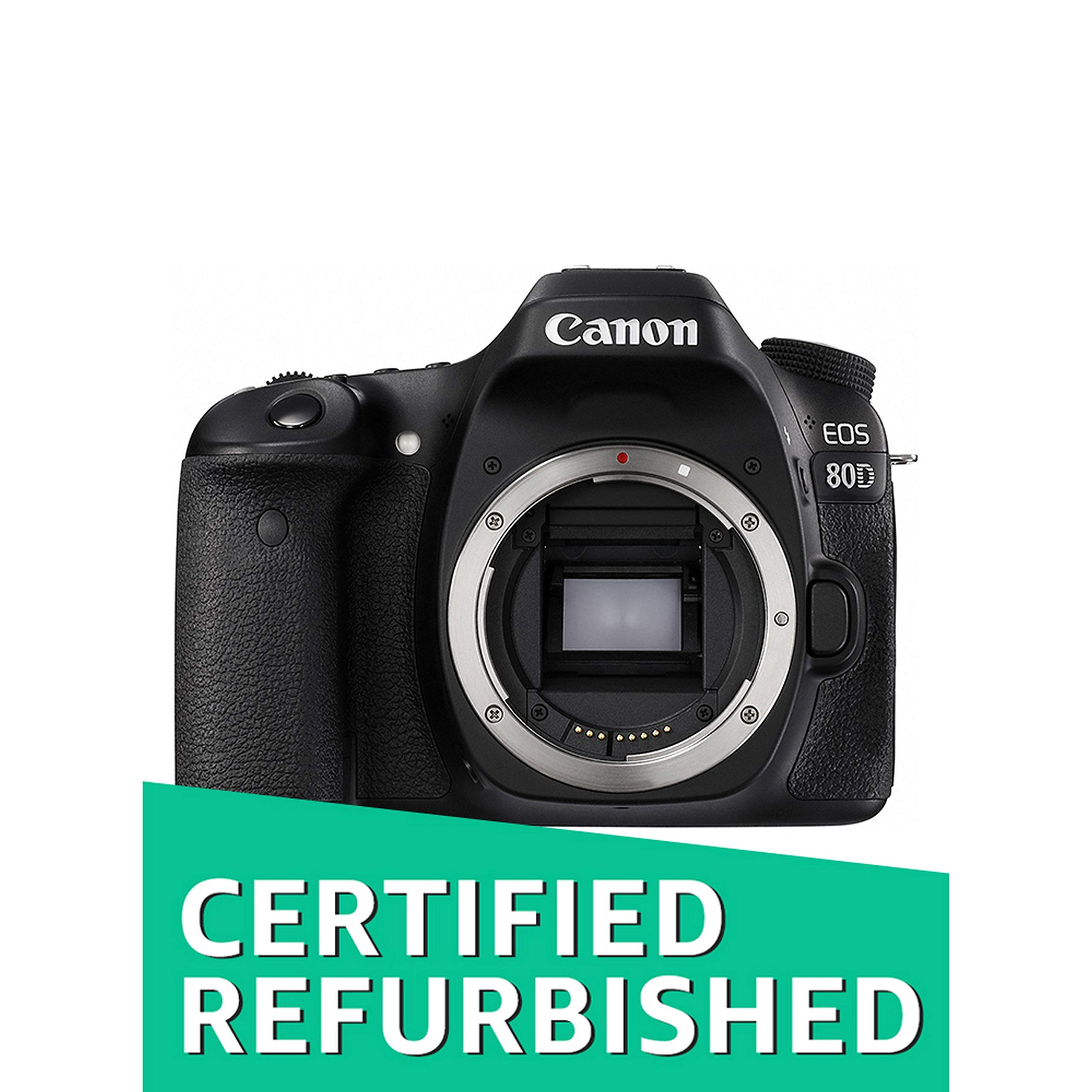 Canon EOS 80D Digital SLR Camera Body (Black) (Renewed)