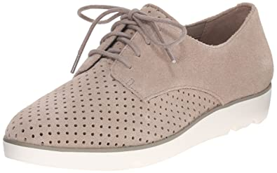 Clarks Evie Bow Laceup Shoes Color Beige  Women