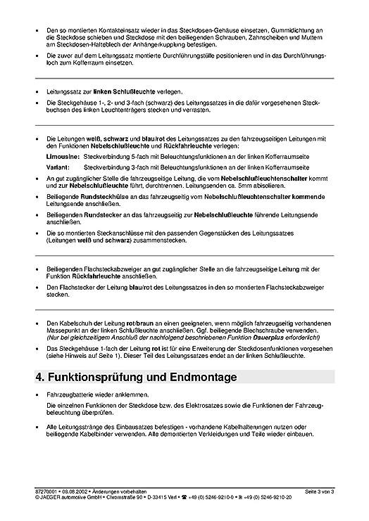 Großartig 4 Zinkige Anhängerverkabelung Bilder - Die Besten ...