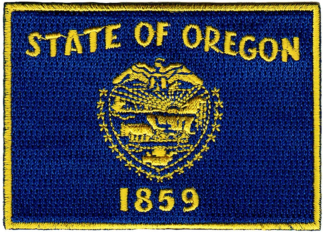 Display your travels! Sew On OREGON STATE SEAL Bag,Jacket Printed Patch