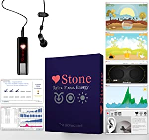 Biofeedback Stone Home: HRV Training | Software and Games, Relaxation, Meditation, Breathing Techniques for Anxiety and Stress
