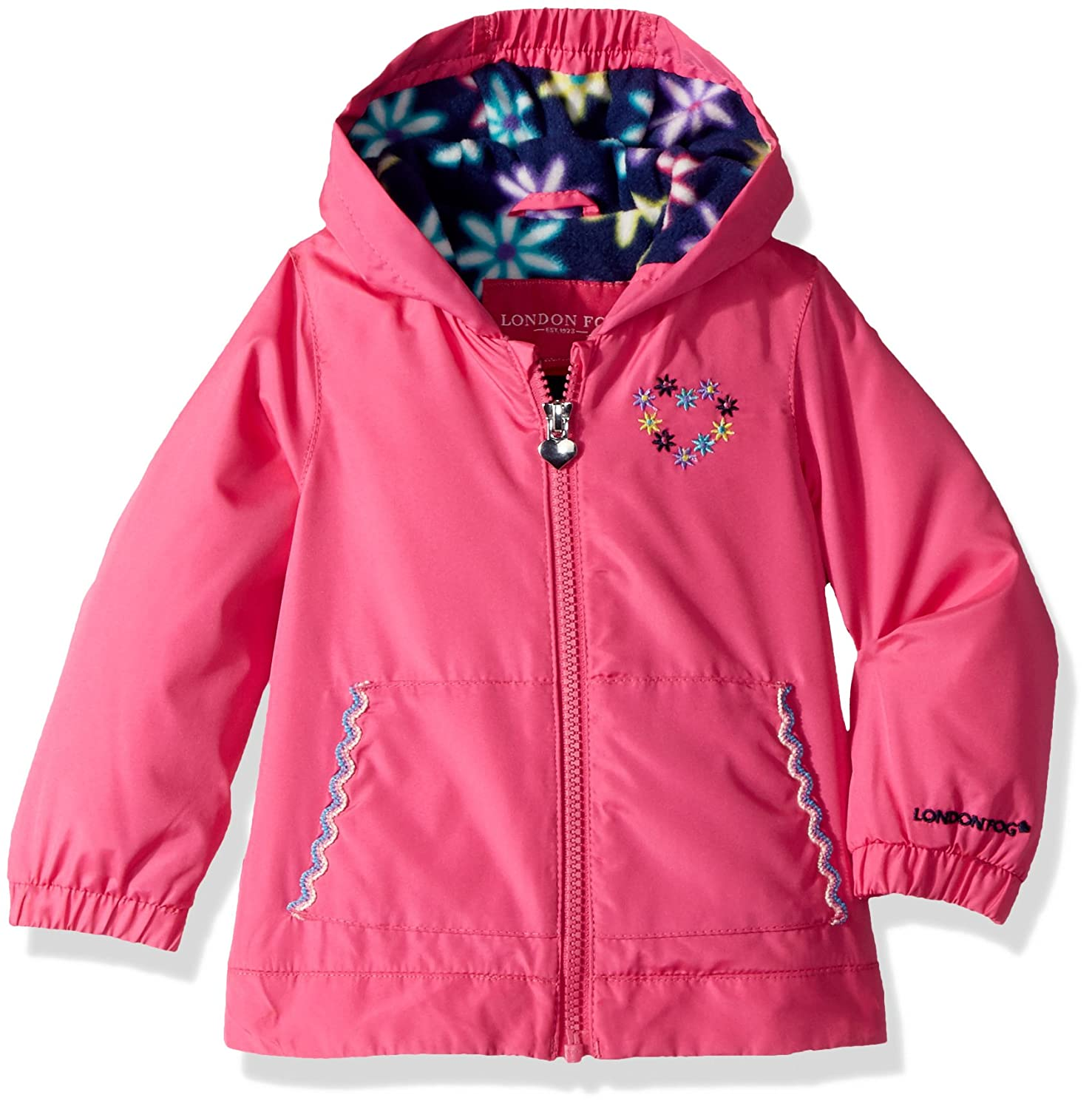 London Fog Baby Girls' Floral Printed Fleece Lined Jacket L116578-AN