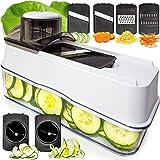 Fullstar Mandoline Slicer Spiralizer Vegetable Slicer - Veggie Slicer 5-in-1 Mandoline Food Slicer with Julienne Grater…