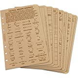 """Rite in the Rain All Weather Tactical Reference Card Set, 4 5/8"""" x 7"""", Tan Sheets (No. 9200T-R)"""