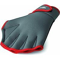 Speedo Aqua Fit Swim Training Gloves, Charcoal/Red, Small