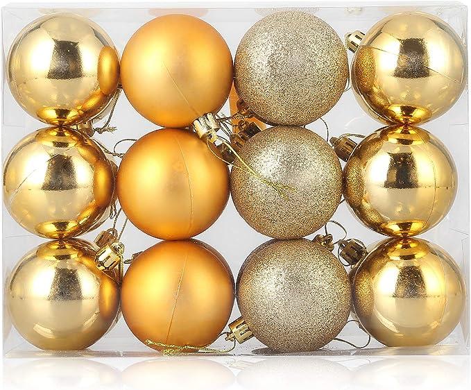 24//48Pcs Christmas Tree Xmas Balls Decor Baubles Party Wedding Ornament@led4