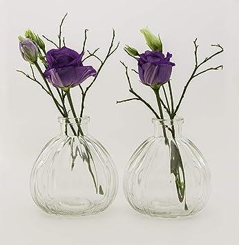 Amazonde Casa Vetro 6 Oder 12 Stück Kleine Vase Blumen Tisch Vase