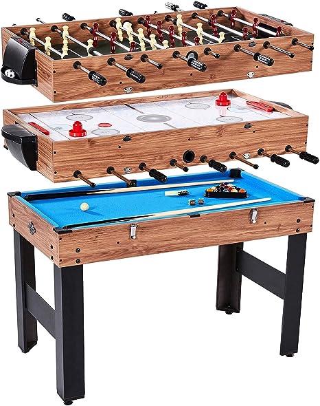 Lancaster Gaming Company - Mesa de juegos 3 en 1: Billar, futbolín y hockey de mesa. Mesa de juegos combinados de 122 cm de largo.: Amazon.es: Deportes y aire libre
