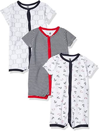 Hudson Baby Unisex Cotton Rompers