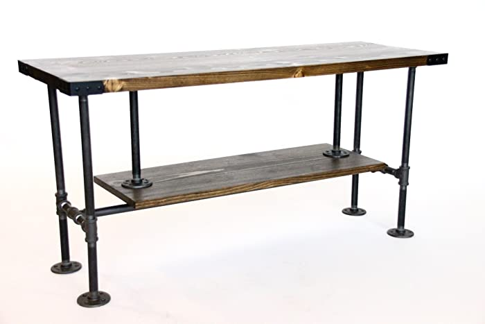 Industrial Style TV Console, Rustic Media Stand With Storage, Ships From  Detroit, MI
