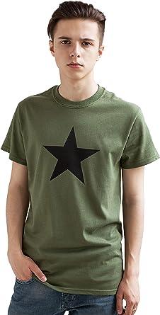 Strand Clothing Star Camiseta – Minimalista mínimo diseño Estampados a Mano Urban T Camisa – Caqui: Amazon.es: Ropa y accesorios