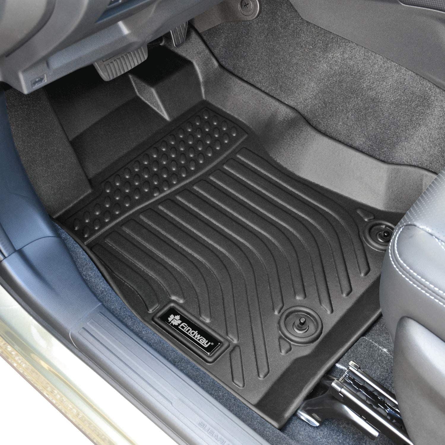 for Mazda CX-30 2021 Ship from Canada Black. All Weather Digital Measured 3-Year Warranty Custom Fit TPE Rubber 2020 Findway F100 3D Car Floor Mat // Liner Waterproof Full Set for 1st row and 2nd row