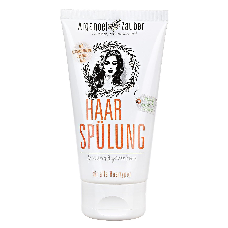 Haarspülung ohne Silikon   Conditioner speziell gegen trockenes & strapaziertes Haar   150 ml Naturkosmetik von Arganoel-Zauber Arganoel Zauber