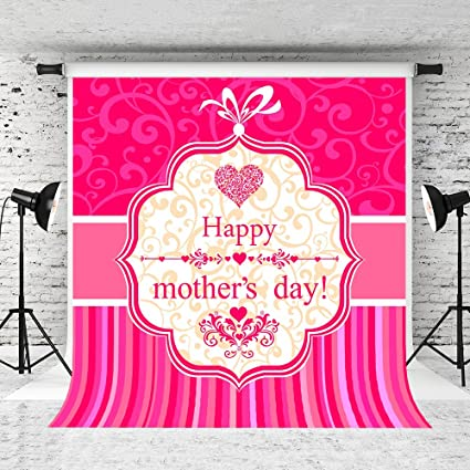 Kate 5x7ft Happy Mothers Day Photography Backdrops Pink Pattern Background Party Decoration Backdrop Photo