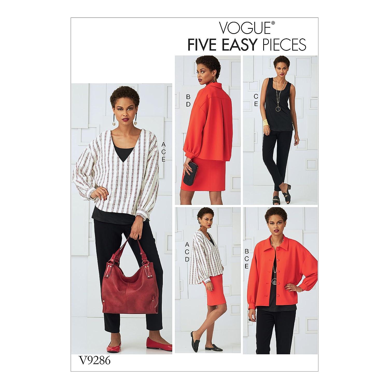 Vogue Patrones de Costura para Top, Falda y Pantalones, Tejido,, 15 ...