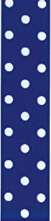 product image for Offray, Royal Blue Grosgrain Polka Dot Craft Ribbon, 1 1/2-Inch x 9-Feet