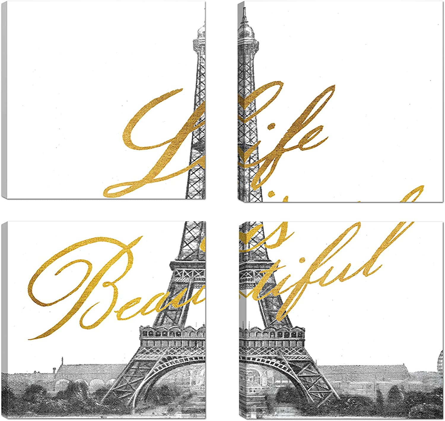 Art 2021 new Maison Wall Canvas Set of Life 4 Credence Beau 16