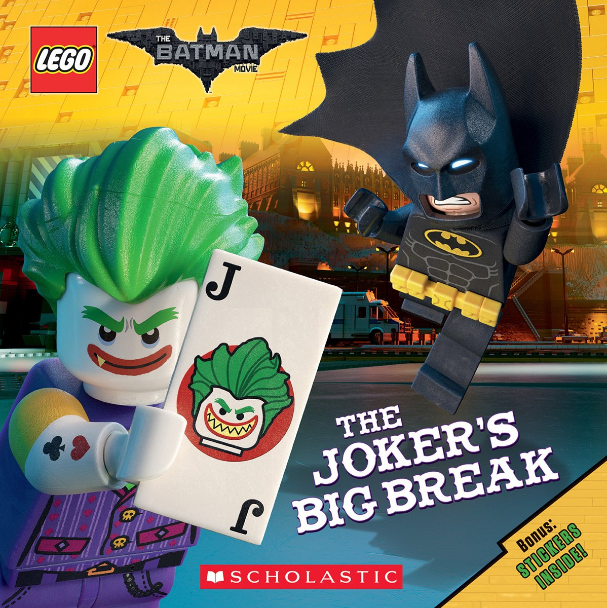 Amazon Com The Joker S Big Break The Lego Batman Movie 8x8 9781338112177 Petranek Michael Books