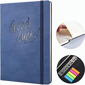 Classic Notebook Journal A5 Hardcover Ruled/Line Thick Notebook Personal Journal,Premium Writing Notebooks,Faux Leather,Travel, Office gifts,Lay Flat Notebook For Men and Women,Medium 5.7 X 8.5 inch