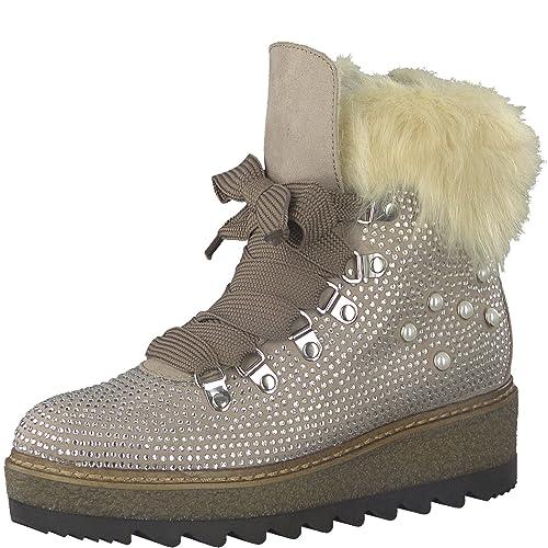 buy popular 8c7a8 b669e Tamaris Damen Keilstiefeletten 26722-21,Frauen  Stiefel,Boots,Halbstiefel,Wedge-Bootie,gefüttert,Winterstiefeletten,Blockabsatz  4cm