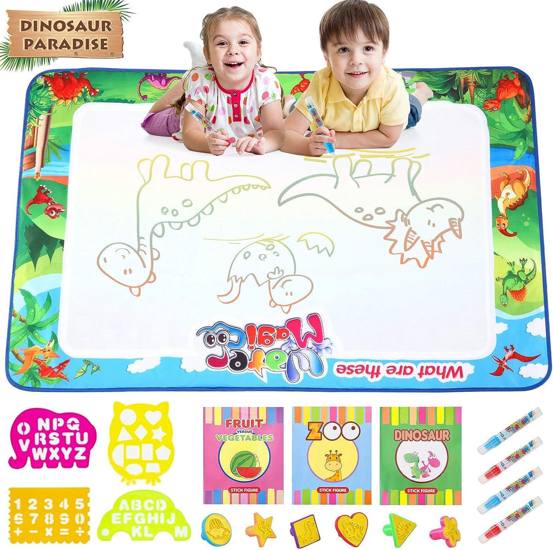 Gxi Esterilla de agua de 100 x 80 cm, extra grande, para dibujar en agua, juguetes educativos, regalos para niños, niñas de 3 4 5 6 años