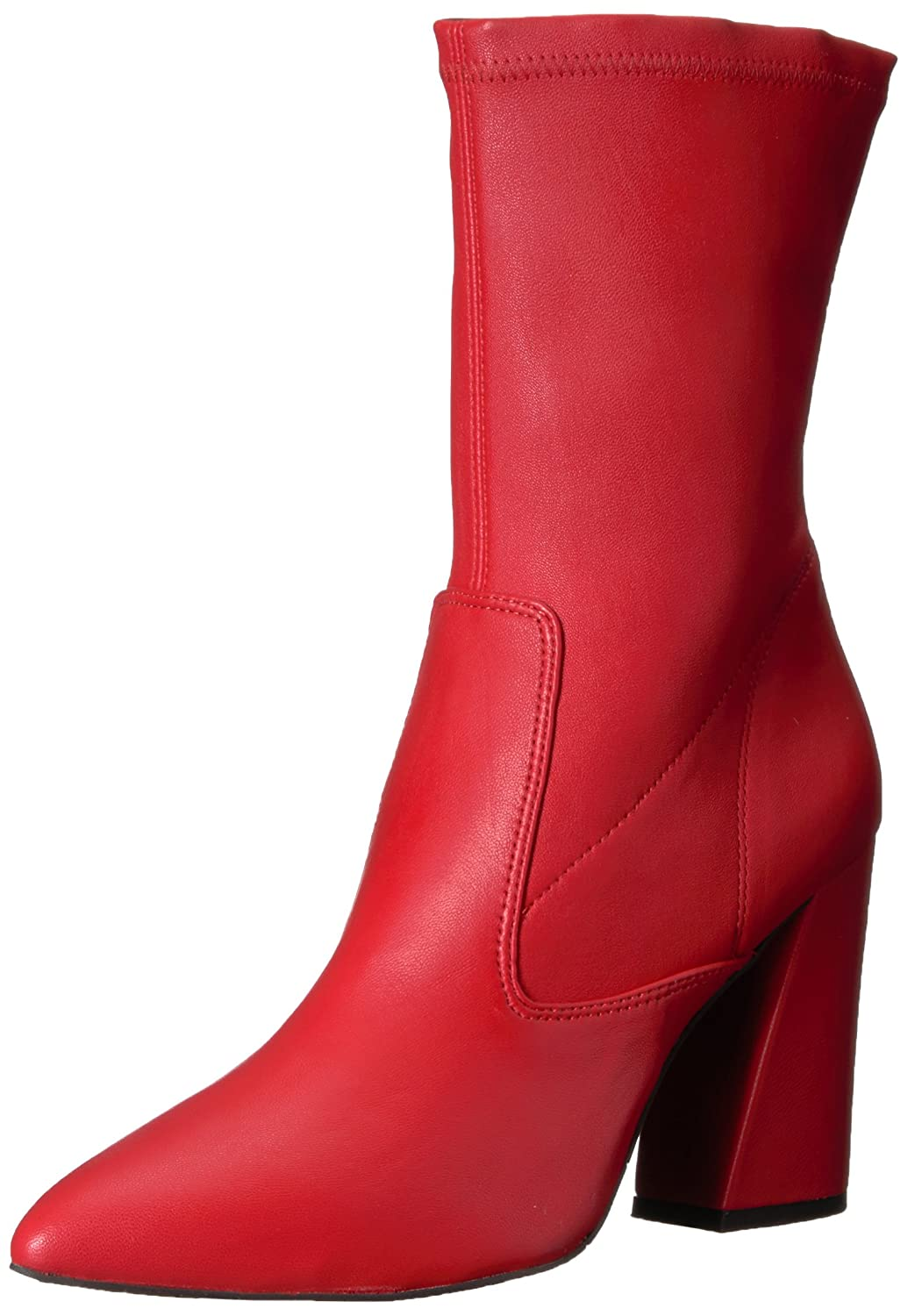 Kenneth Cole New York Women's Galla Pointed Toe Bootie with Flared Heel Stretch Shaft Ankle Boot B073XLJN57 9.5 B(M) US|Red