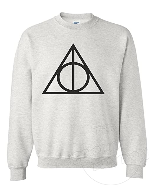 Reliquias de la Muerte Triangle - Harry Potter Inspirado Sudadera Unisex Gris Gris: Amazon.es: Ropa y accesorios