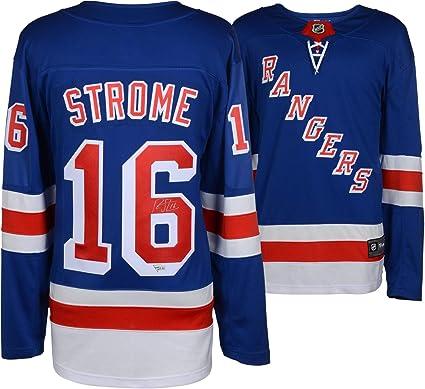 60fac6442 Ryan Strome New York Rangers Autographed Blue Fanatics Breakaway Jersey - Fanatics  Authentic Certified