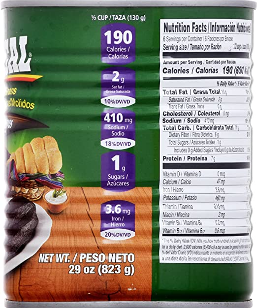Amazon.com : Goya Foods Ducal Refried Black Beans, 29-Ounce (Pack of 12) : Black Beans Produce : Grocery & Gourmet Food