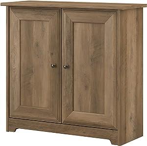 Bush Furniture Cabot 2 Door Low Storage, Reclaimed Pine