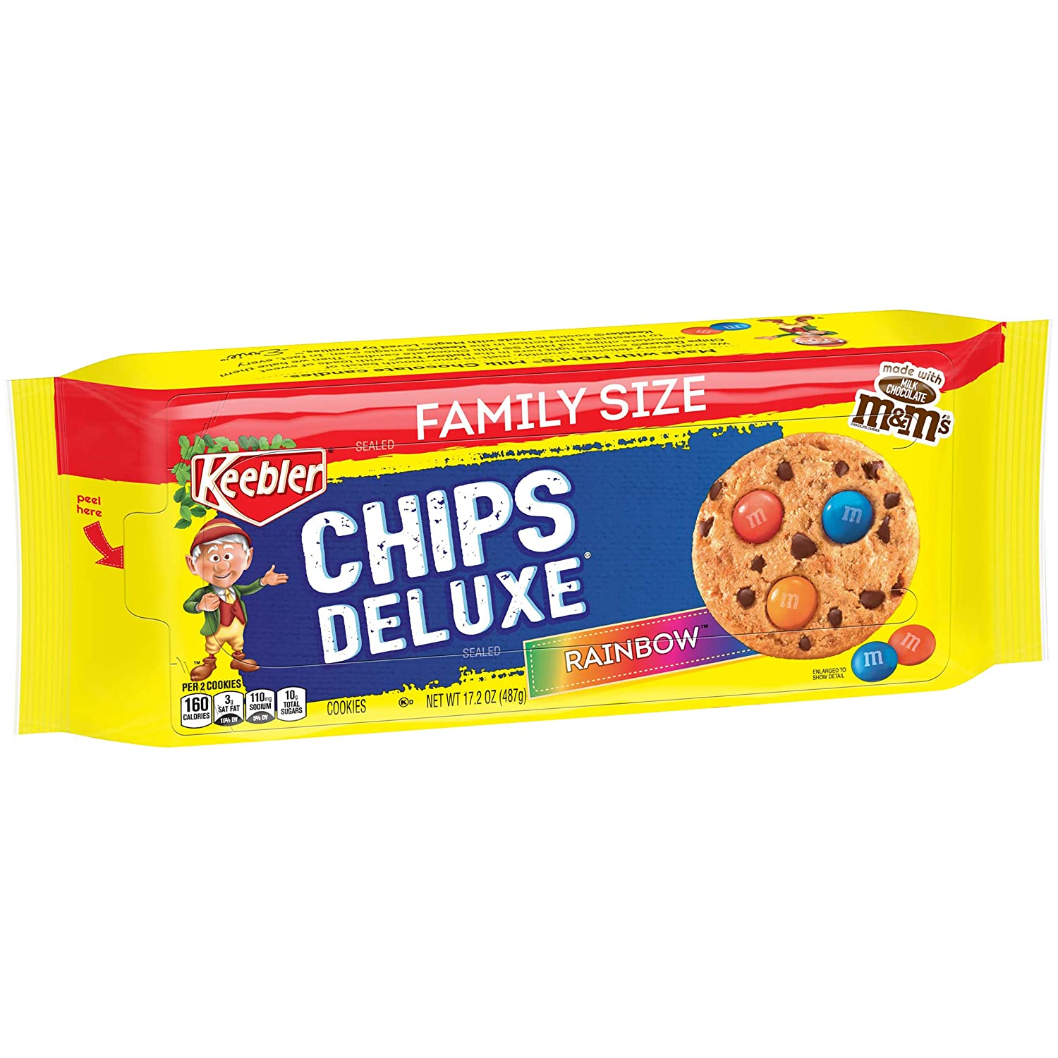 Keebler Chips Deluxe Cookies Rainbow With M M S Chocolate Candies 17 2 Oz Amazon Com Grocery Gourmet Food