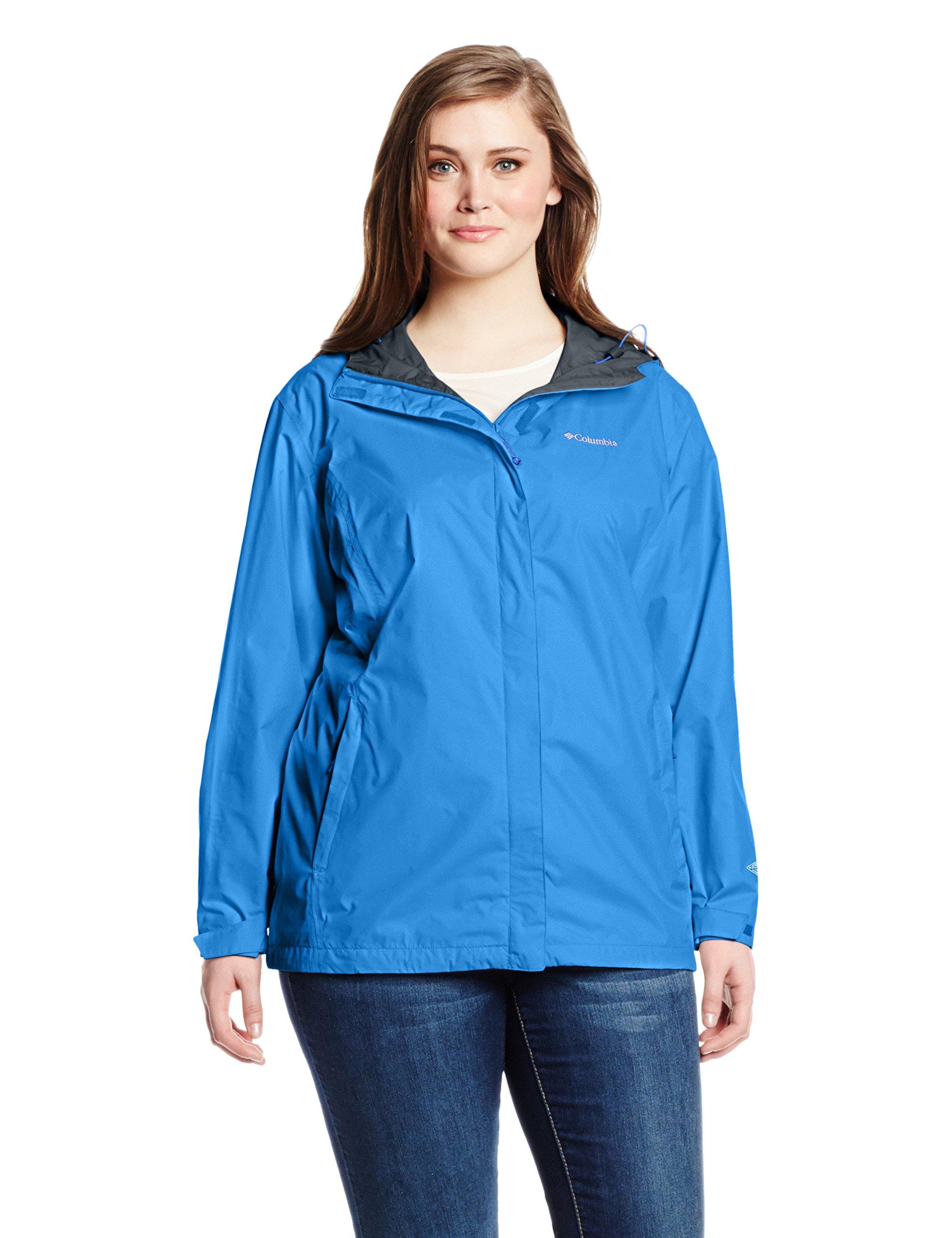 Columbia Women's Plus-Size Arcadia II Jacket, Stormy Blue, 1X