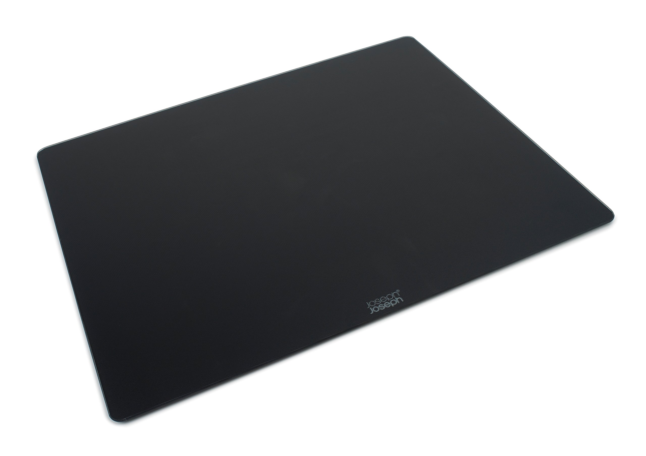 Joseph Joseph 90122 Worktop Saver Glass Cutting Board and Serving Board Heat Resistant, 15.8-in x 19.7-in, Black