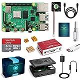 LABISTS Raspberry Pi 4 Model B 1GB RAM MicroSDHCカード32G/NOOBSシステムプリインストール/カードリーダ /5.1V/3A Type-C スイッチ付電源/MicroHDMI-to-HDMIケーブルライン/三つヒートシンク/簡単に取り付けケース/日本語取扱説明書/24ヶ月保証