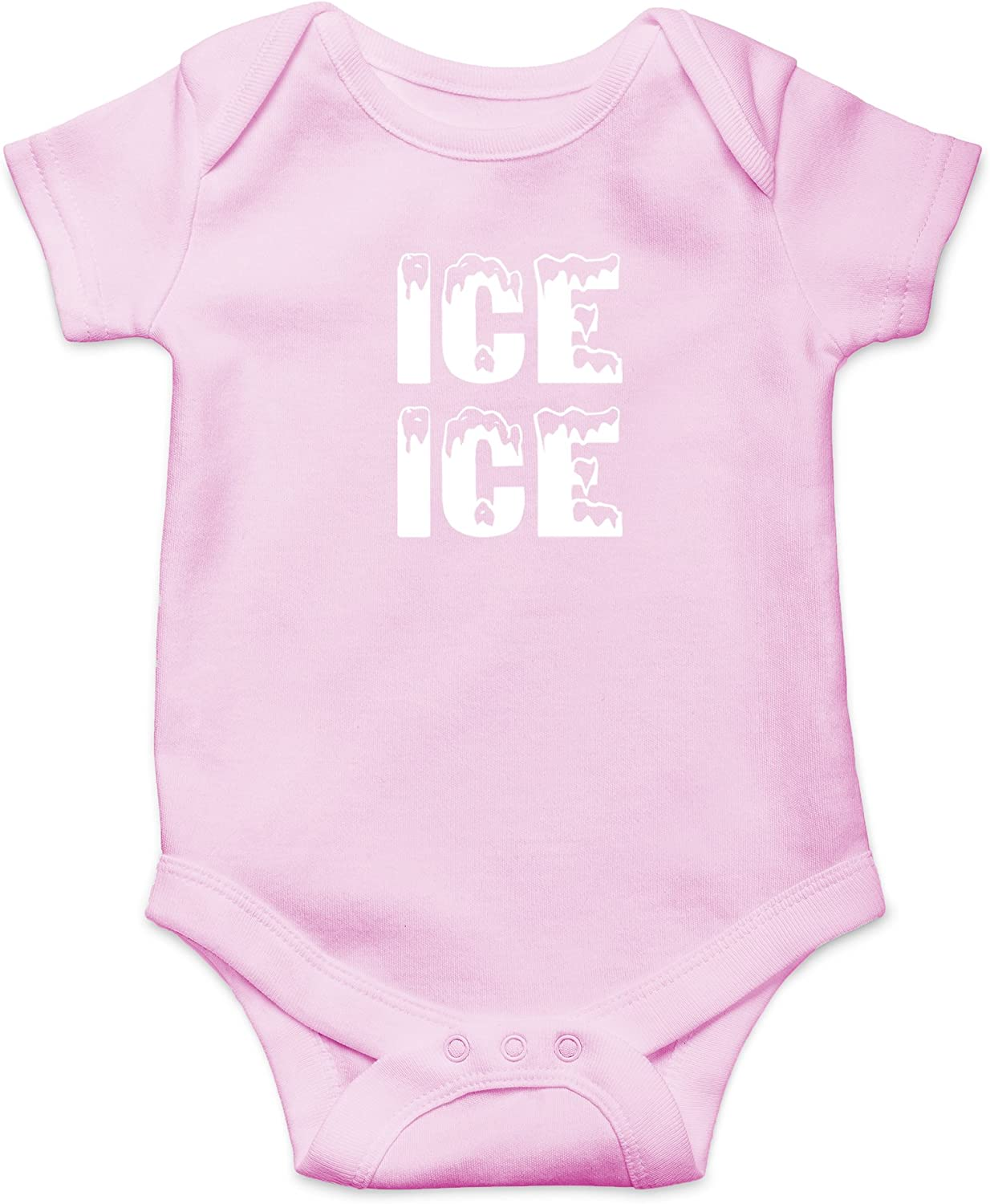 Crazy Bros Tees Ice Ice Baby - Parody Funny Cute Novelty Infant One-Piece Baby Bodysuit