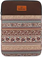 """DOMISO 14 inch Laptop Sleeve Case Notebook Bag Canvas Fabric Flower Pattern Cover for 13.5"""" Microsoft Surface Book / 14""""..."""