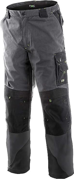 Imagen deDINOZAVR Sirius Pantalones de Trabajo Estilo Cargo para Hombre - Resistentes - Gris/Negro