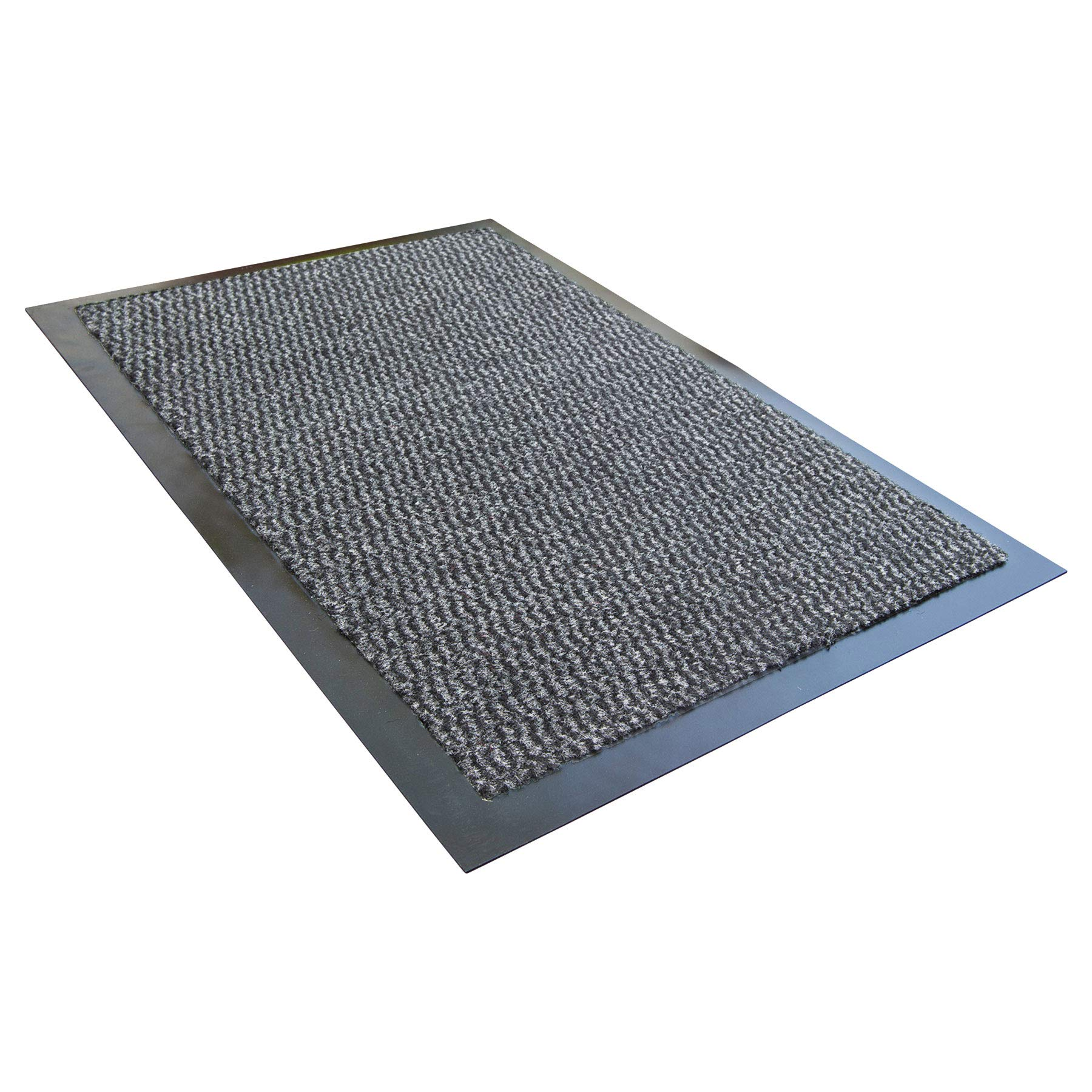 Ultralux Indoor Entrance Mat | 24'' x 35'' | Polypropylene Fibers and Anti-Slip Vinyl Backed Entry Rug Doormat | Gray | Home or Office Use | Multiple Sizes by Ultralux