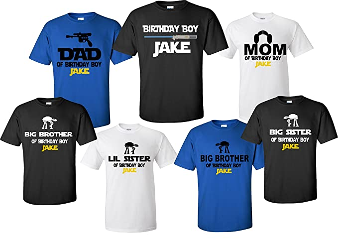 STAR WARS BIRTHDAY BOY FAMILY SHIRTS Mom Dad Sister Brother Of The Birthday
