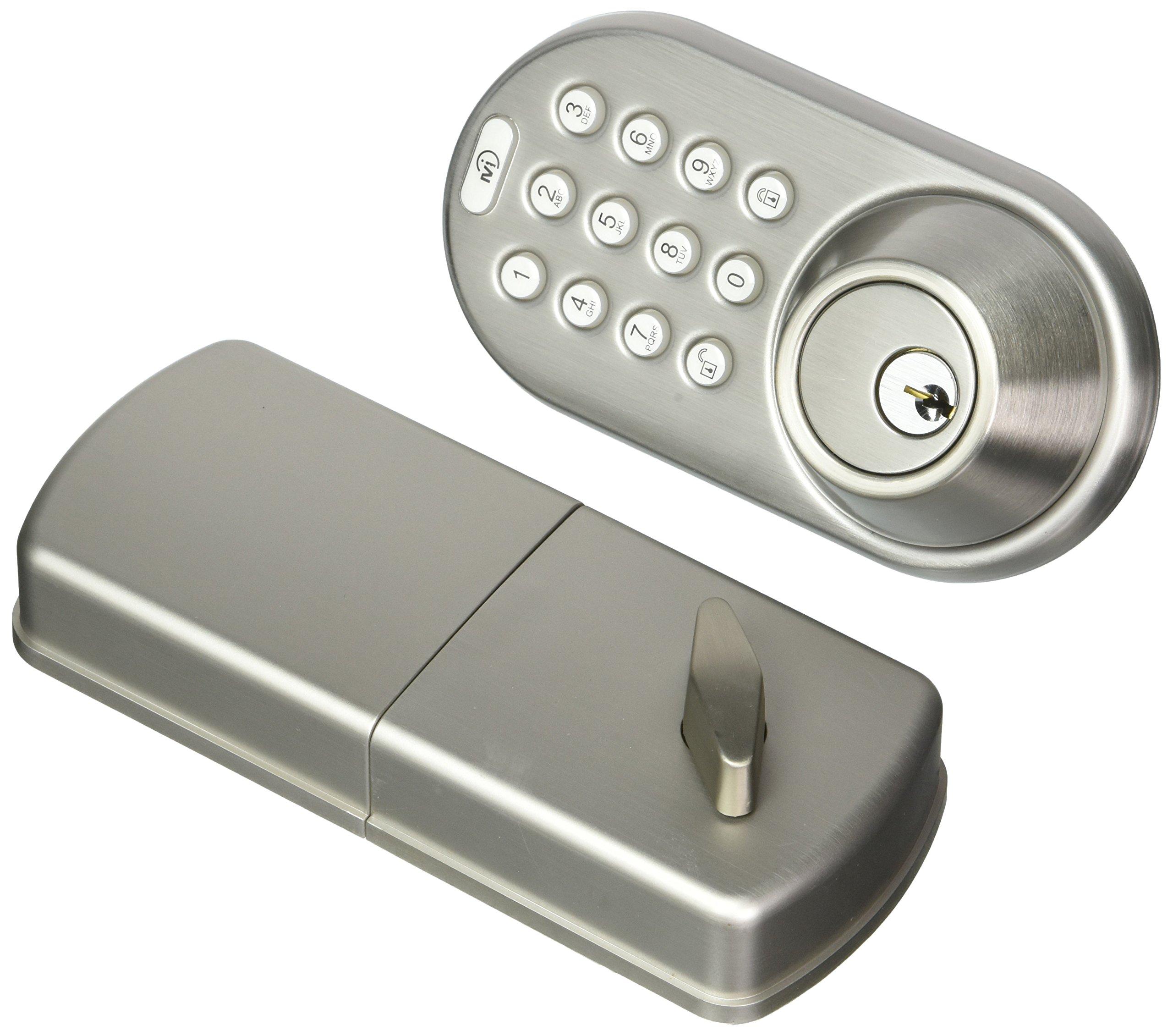 MiLocks Bluetooth and Keypad Deadbolt, Satin Nickel