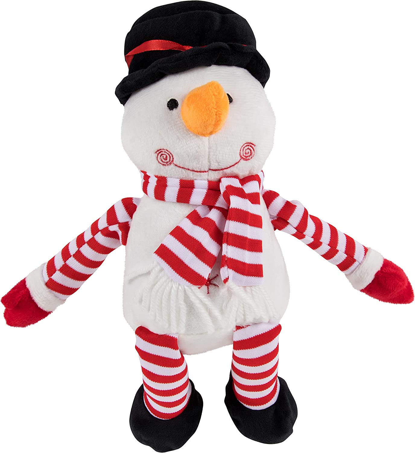 Snowman Plush Toy - Blizzard The Snowman Kids Soft Stuffed Toy, Fun Christmas Holiday Party Gifts for Girls and Boys, Festive Decoration, White, 7.7 x 7 Inches