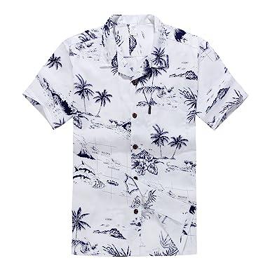 3874d30c4 Men's Hawaiian Shirt Aloha Shirt: Amazon.co.uk: Clothing