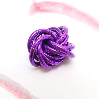 Möbii Amethyst: Small Fidget Ball Stress Mobius Toy, Quiet Restless Hand, Office, School, Anxiety
